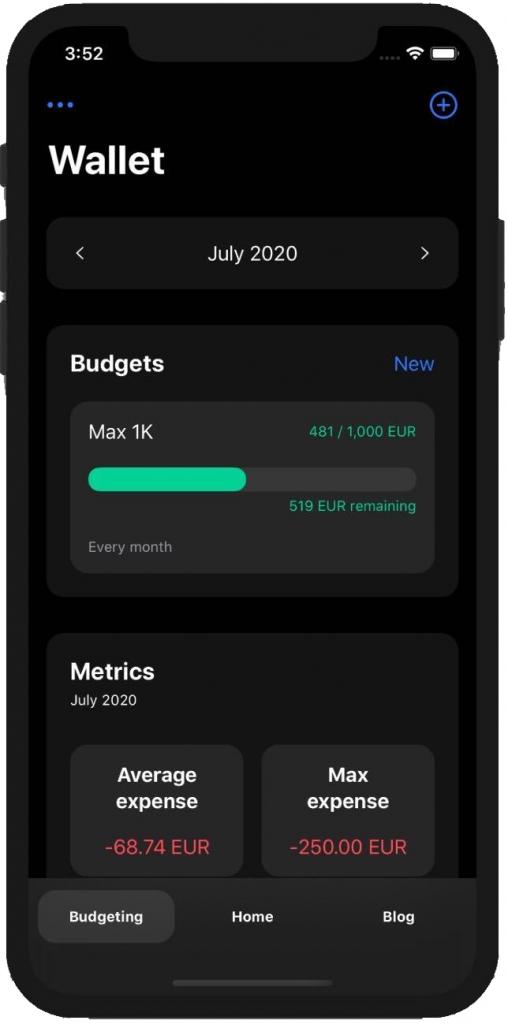 budgeting app risparming