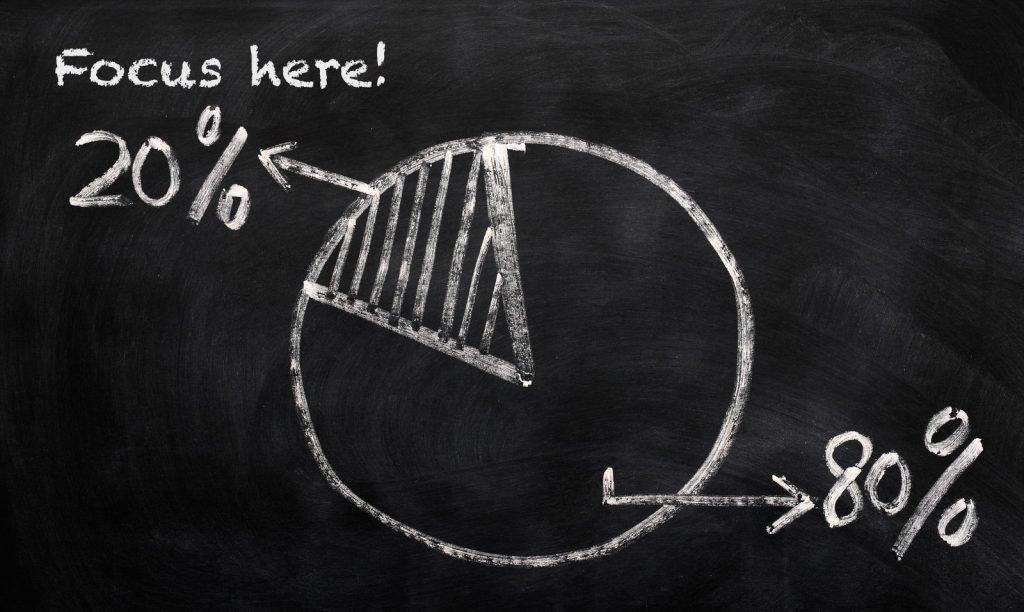 la regola di pareto: focalizzati sul 20%